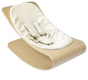 Bloom E10601-NCW - Hamaca bebé, marco de madera natural, asiento Coconut White