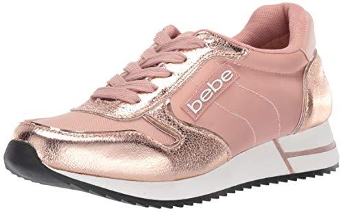 bebe Women's Bardot Sneaker, Rose Gold, 7 Medium US
