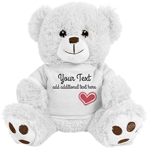 - Custom Cute Teddy Bear Gift: 8 Inch Teddy Bear Stuffed Animal