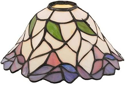 Tiffany Style Stained Glass Table Lamp 13.5 Inch Blue Jay Victorian Style Accent Lamp with Vintage Bird and Bronze Floral Tree Base – High-End, Decorative Colorful Pedestal Lamps for Small Home Decor