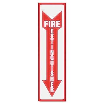 Amazon.com : Headline Sign 4793 Glow-in-the-Dark Fire Extinguisher ...