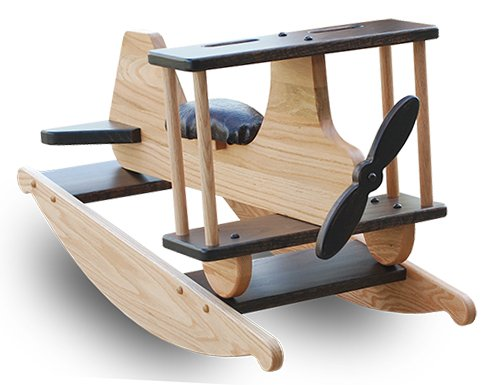 Airplane Rocking Horse Solid Oak Amish Made Toy