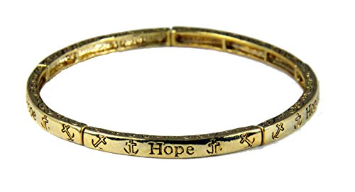 fan products of 4030600 Faith Hope Love Petite Stretch Bracelet Stackable 1 Corinthians Scripture