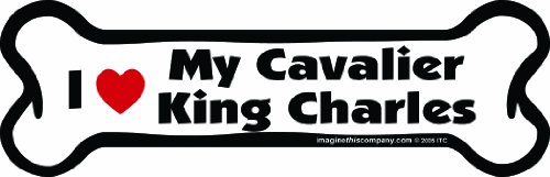 - Imagine This Bone Car Magnet, I Love My Cavalier King Charles, 2-Inch by 7-Inch