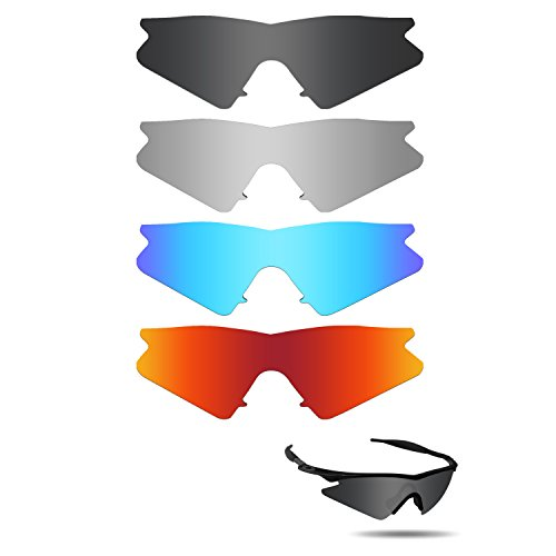 183869907b9a2 Galleon - Fiskr Polarized Replacement Lenses For Oakley M Frame Sweep  Sunglasses 4 Pairs Pack