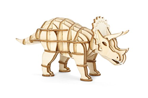 (Triceratops 3D Wooden Puzzle)