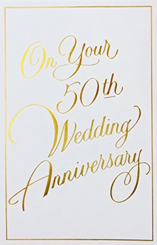 - On Your 50th Wedding Anniversary - 50 Years Together Golden Greeting Card