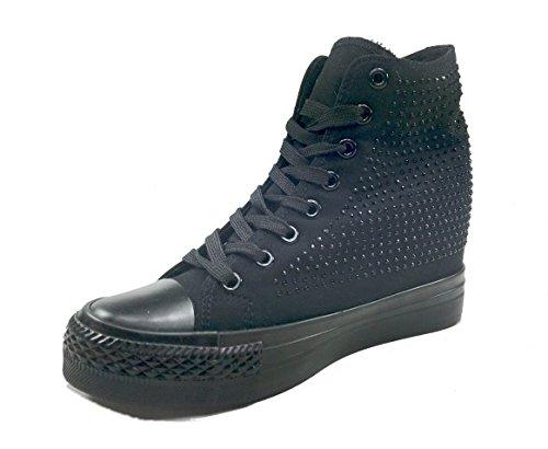 Original Marines - Zapatos de cordones de Lona para mujer negro
