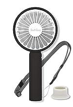 Handheld Mini Fan USB Rechargeable Battery Portable fan (Black)