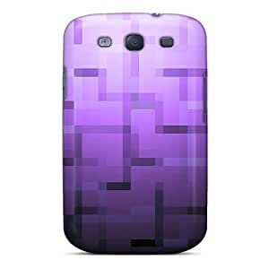 Premium Mdz5334JrlQ Case With Scratch-resistant/ Abstract Purple Case Cover For Galaxy S3