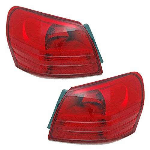08-13 Nissan Rogue Tail Light Lamp Rear Brake Taillight Taillamp (Quarter Panel Outer Body Mounted) Pair Set Right Passenger And Left Driver Side (08 2008 09 2009 10 2010 11 2011 12 2012 13 2013)
