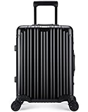 "Reliance Product All Aluminum Luxury Hard Case 20"" Durable with 4 Wheel Spinner TSA Approved Lock"