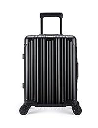 "All Aluminum Luxury Hard Case 20"" Durable with 4 Wheel Spinner TSA Approved lock"