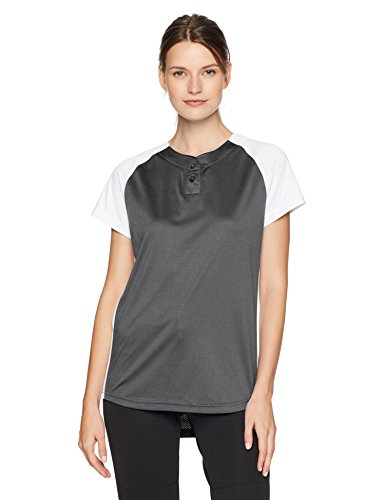 Alleson Ahtletic Women's Dura-Light Fast Pitch Softball Jersey, Charcoal/White, Small