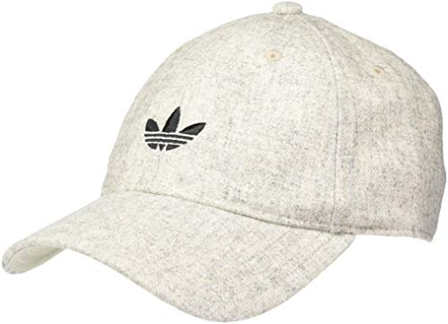 - adidas Men's Originals Wool Relaxed Adjustable Strapback Cap, Clear Brown/Black, One Size
