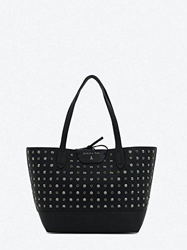 Borsa PATRIZIA PEPE shopping con borchie maxi pochette interna con manico larg. 30,5 alt. 27,5 p12,5 nero ecopelle Nero