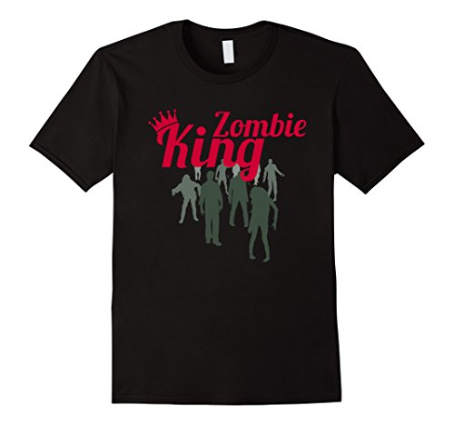 Cute Halloween Outfits For Couples - Mens Cute Couple Zombie Halloween Costume - Zombie King Tshirt Large Black