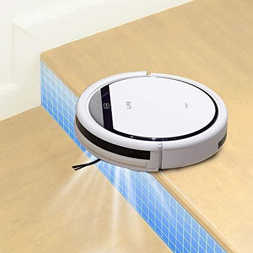 Mdsfe Robot aspirateur Domestique ménage balayeuse Professionnelle Poils d\'animaux Anti-Collision Chargement Automatique - Blanc, a4, US