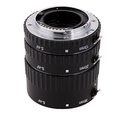 Meike MK-S-AF1-A Macro Auto Focus Extension Tube Ring Set AF for Sony Alpha DSLR
