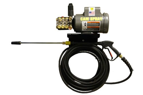 Cam Spray 1500EWM2A Auto Start/Stop Wall Mount Electric Powered Cold Water Pressure Washer, 1500 psi, 50' Hose from Cam Spray