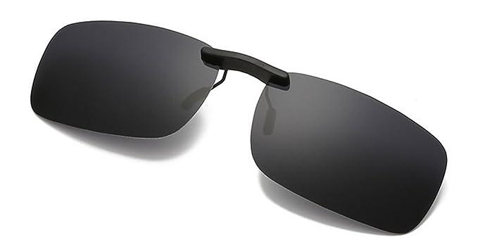 DAUCO Gafas de Sol Polarizadas Clip Lentes de Espejo de Hombre Mujer Unisex Deportes-YYBG