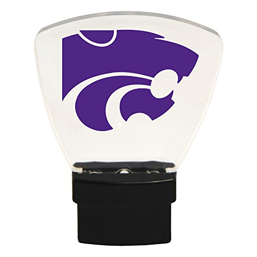 Authentic Street Signs NCAA Officially Licensed-LED NIGHT LIGHT-Super Energy Efficient-Prime Power Saving 0.5 watt, Plug In-Great Sports Fan gift for Adults-Babies-Kids Room (Kansas State Wildcats)