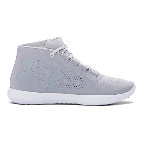 Under Armour Men's Street Precision Mid Sneaker, Overcast (941)/Glacier Gray, 10 For Sale