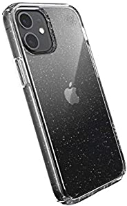 Speck Products Presidio Perfect-Clear + Glitter iPhone 12 Mini Case, Clear with Gold Glitter/Clear
