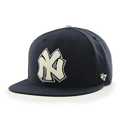 Amazon.com   New York Yankees MLB 47 Brand Cooperstown Hat Cap Navy ... 40317c949be
