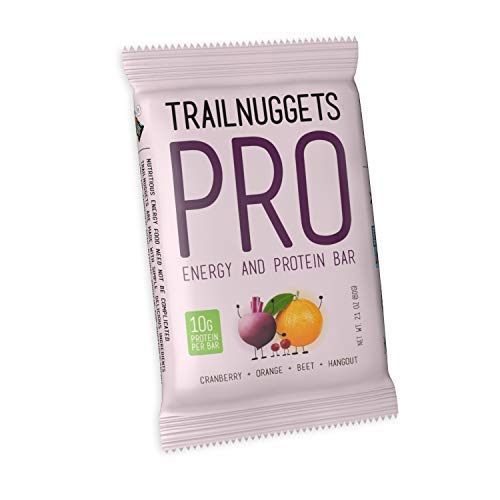 Trailnuggets Pro Energy Endurance Bar, Cranberry, Orange, Beet, Vegan, (6-Pack) by TrailNuggets