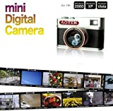 Aotek A8 Mini Chobi cam Retro 5MP Digital DV Camera with Fisheye, Macro, and Wide Lenses