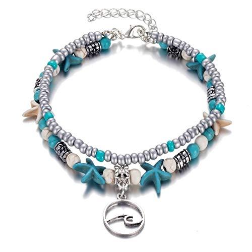 TTPAIAI 30 Starfish Anklets Bracelet Beads Beach Boho Foot Jewelry