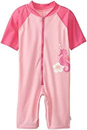 i play. Baby One Piece Swim Sunsuit, Pink Seahorse, 24 Months
