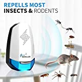 oliversmagic New 2019 Ultrasonic Pest Repeller - 2 in 1 Pack Ultrasonic Repellent - Plug in Electronic Non-Toxic Device - Effective Upgraded Frequency Electronic & Ultras