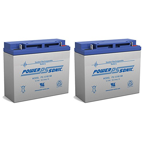 Powersonic 12V 18AH Battery Replaces Luggie Travel Scooter Wheelchair - 2 Pack by Powersonic (Image #2)