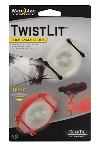 Nite Ize TwistLit LED Bike Light (2-Pack), Red and White