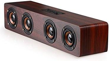Altavoz Bluetooth de Madera, USB Parlante Bluetooth 4.2 Bass 4 Altavoz Estéreo, Soporte 12W TF Tarjeta AUX Radio FM Para el Hogar Fiesta al Aire Libre Playa Navidad Gama de 33 pies:
