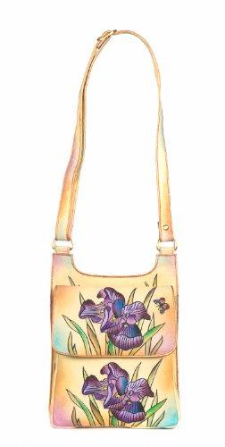 ZIMBELMANN LILI IRIS Genuine Nappa Leather Hand-painted Cross Body Shoulder Bag