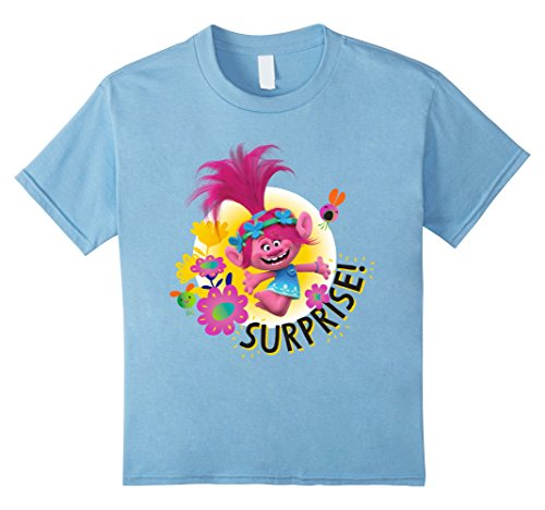 Kids DreamWorks' Trolls Kids' SURPRISE! Poppy T-Shirt 10 Baby Blue