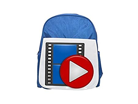 e11ac6f0524d Multimedia icon printed kid s blue backpack