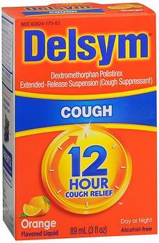 Price comparison product image Delsym 12 Hour Cough Relief, Orange Flavored Liquid - 3 oz, Pack of 2