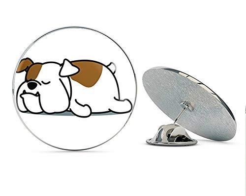 - BRK Studio Cute Sleepy Lazy Bulldog Puppy Dog Cartoon Round Metal 0.75