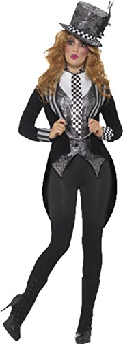 Deluxe Dark Miss Hatter Costume Black X-small Uk