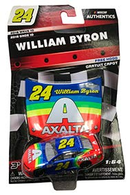 NASCAR Authentics William Byron #24 Diecast Car 1/64 Scale - 2018 Wave 10 with Plastic Hood - Collectible