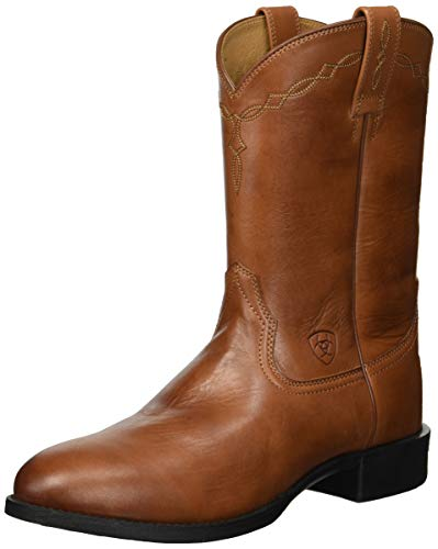 Ariat Men's Heritage Roper Western Boot, Naturally Cognac, 10 D US