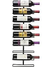 Sorbus wijnrek voor wandmontage (voor 9 flessen)