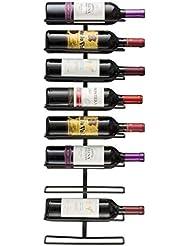 Sorbus Wall Mount Wine Rack, Home Decor, Holds 9 Bottles
