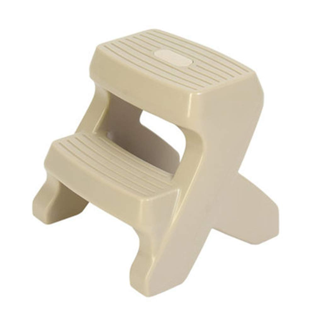 Toilet Stool with 1/2 Steps and Slip-Resistant Pads Non-slip Bathroom PP Plastic Step Double Step Stool,Browna by HB Toilet Stool