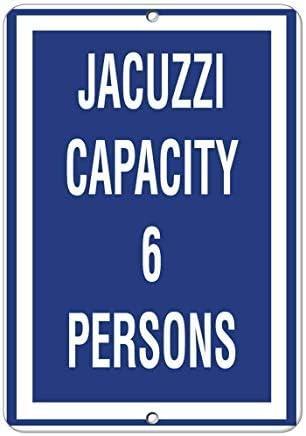 Modtory Wanddekoration Schild Whirlpool Kapazität 6 Personen Aktivitätsschild Pool Schilder Lustiges Hausschild für Frauen