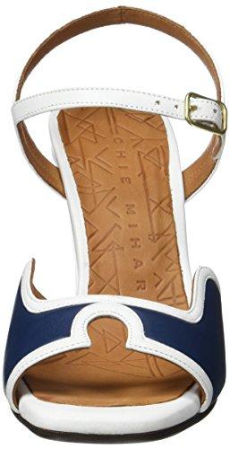 Chie Mihara Alanko, Scarpe Col Tacco con Cinturino a T Donna Bleu (Maitai Navy Tailu Blanco)